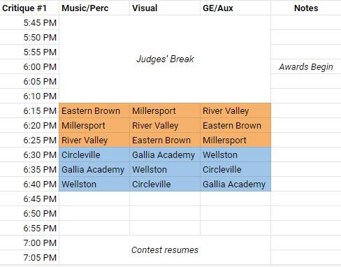 Critique Schedule BC